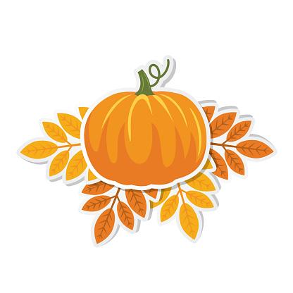 Cute Autumn Design Element