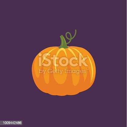 Flat Design Style Autumn Icon - Pumpkin
