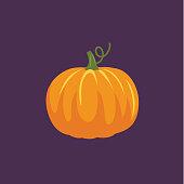 Flat Design Style Autumn Icon - Pumpkin