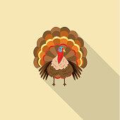 Flat Design Style Autumn Icon - Turkey