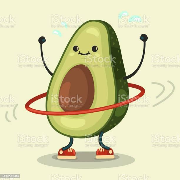 Cute avocado cartoon character doing exercises with hula hoop vector vector id960293984?b=1&k=6&m=960293984&s=612x612&h= 0n2pdugbmabbkmnv1hyx9am9duj py  alevr6uuma=