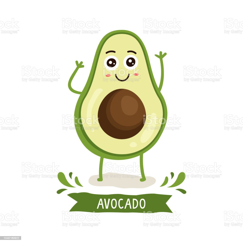 Cute Avocado Character Stock Vector Art & More Images Of