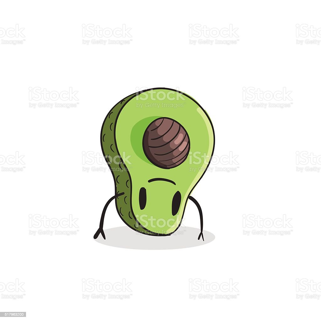 Cute Avocado vector illustration vector art illustration