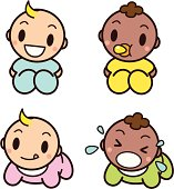 Vector illustration of Cute Babies.