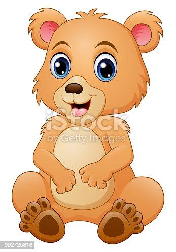 Cute Baby Bear Cartoon Stock Vector Art & More Images of ...