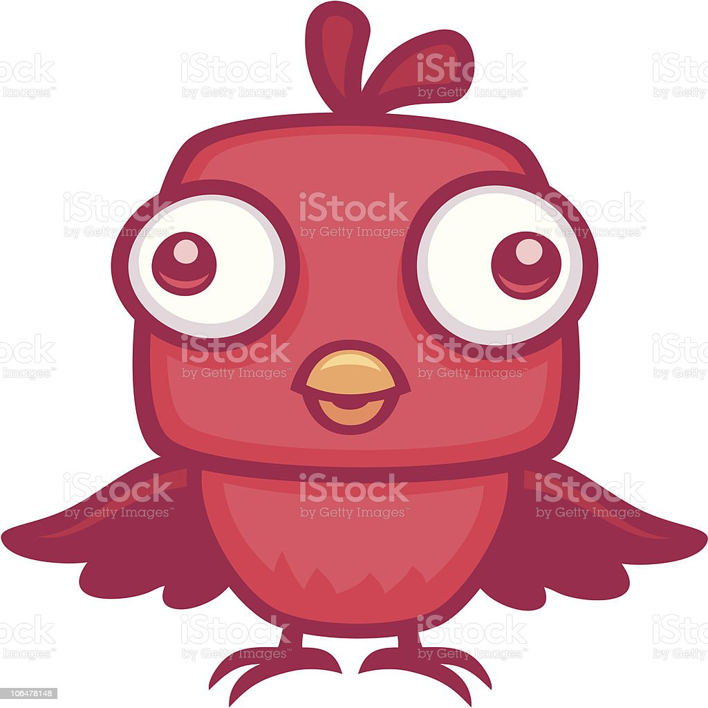 Cute Baby Bird vector art illustration