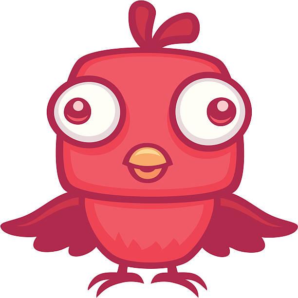Cute Baby Bird vector art illustration