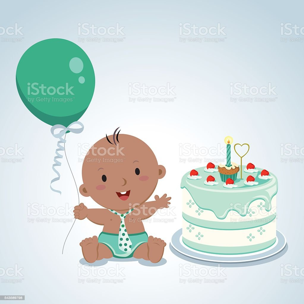 Pleasant Cute Baby Boy Birthday Stock Illustration Download Image Now Birthday Cards Printable Nowaargucafe Filternl