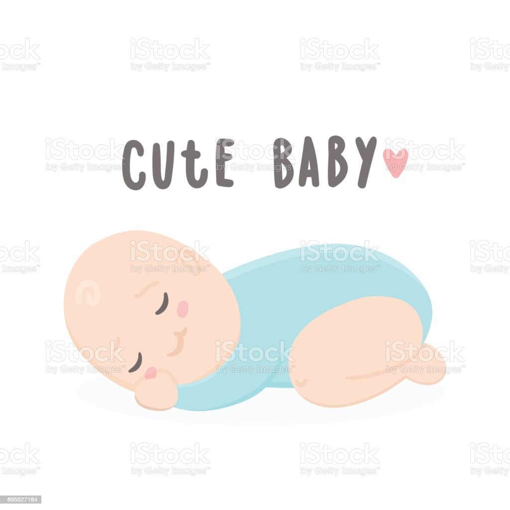 cute baby boy sleeping stock vector art & more images of