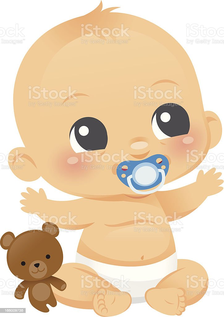 Cute Baby Boy vector art illustration