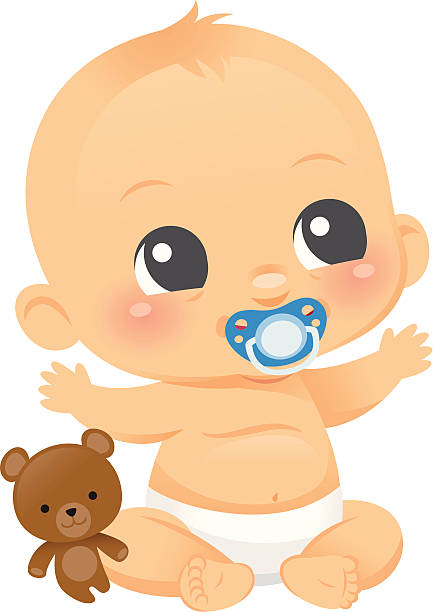 ilustrações, clipart, desenhos animados e ícones de bonito bebê menino - novo bebê