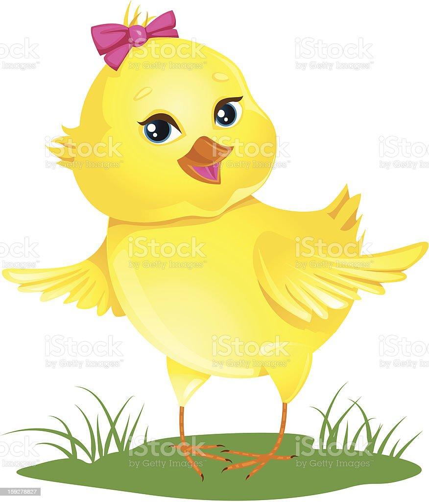 Cute baby chicken royalty-free stock vector art