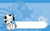 cute baby cow cartoon background