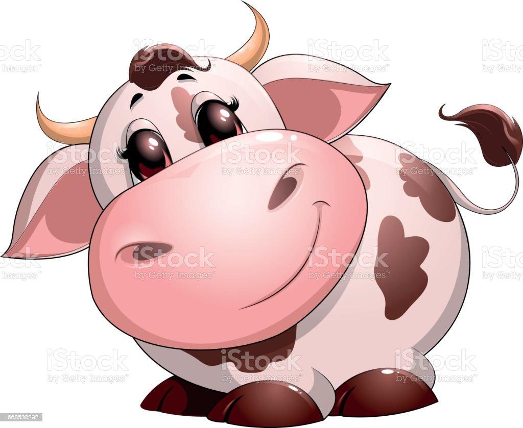 cute baby cow cartoon stock vector art 668530292 istock