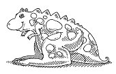 Cute Baby Dinosaur Drawing