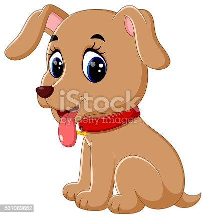 Cute Baby Dog Cartoon Stock Vector Art Amp More Images Of