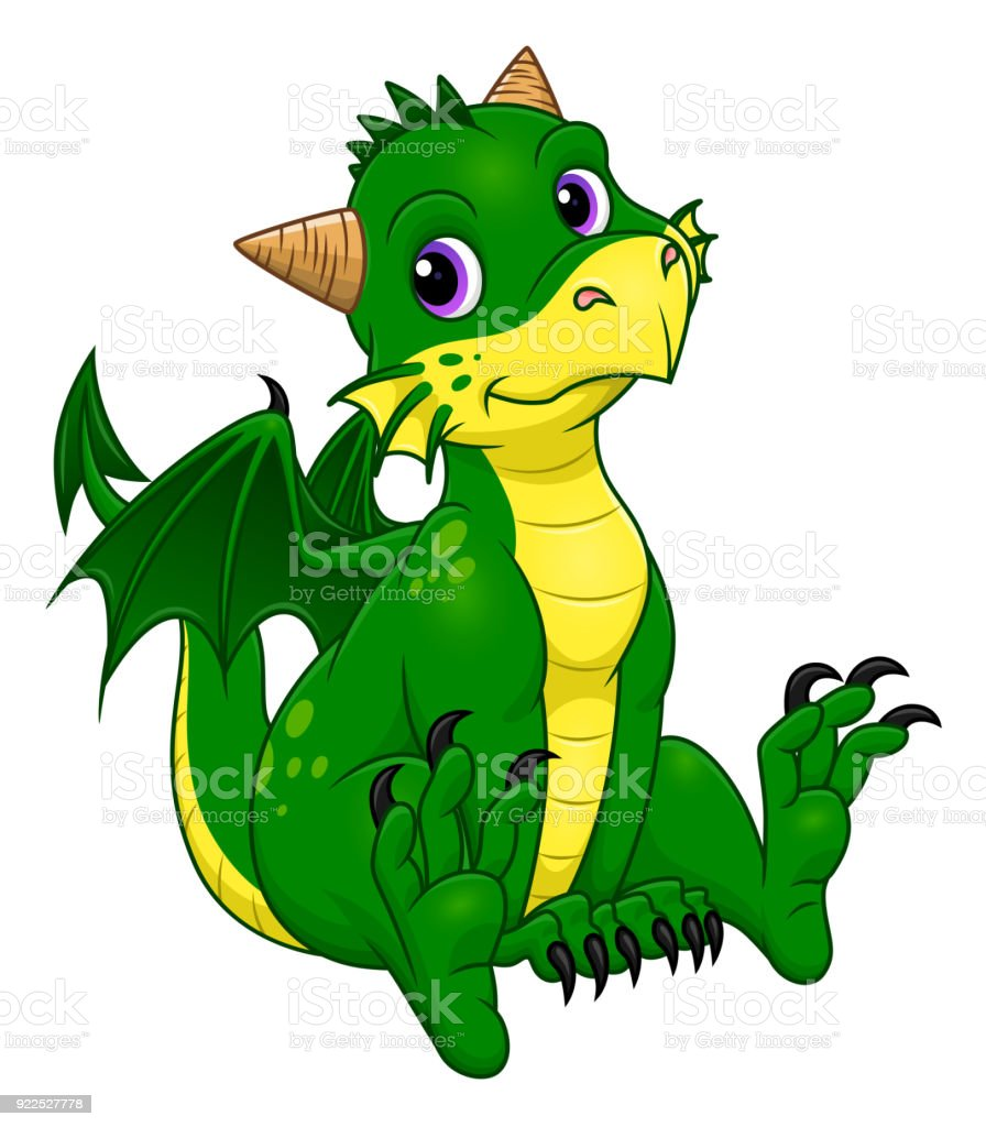 Cute Baby Dragon Stock Illustration Download Image Now Istock