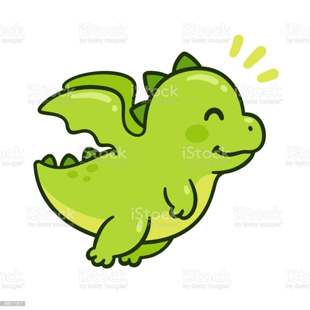 かわいい赤ちゃんドラゴン おとぎ話のベクターアート素材や画像を多数