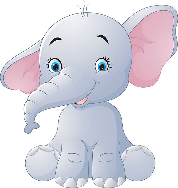Royalty Free Elephant Eating Clip Art, Vector Images ...
