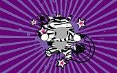 cute baby happy jump zebra background