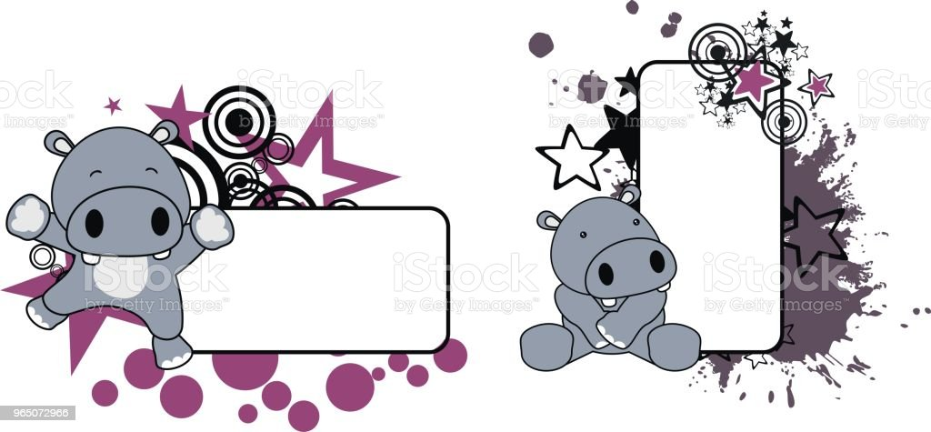 cute baby hippo copy space set royalty-free cute baby hippo copy space set stock vector art & more images of animal