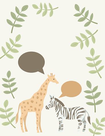 Cute Baby Jungle Animals Frame
