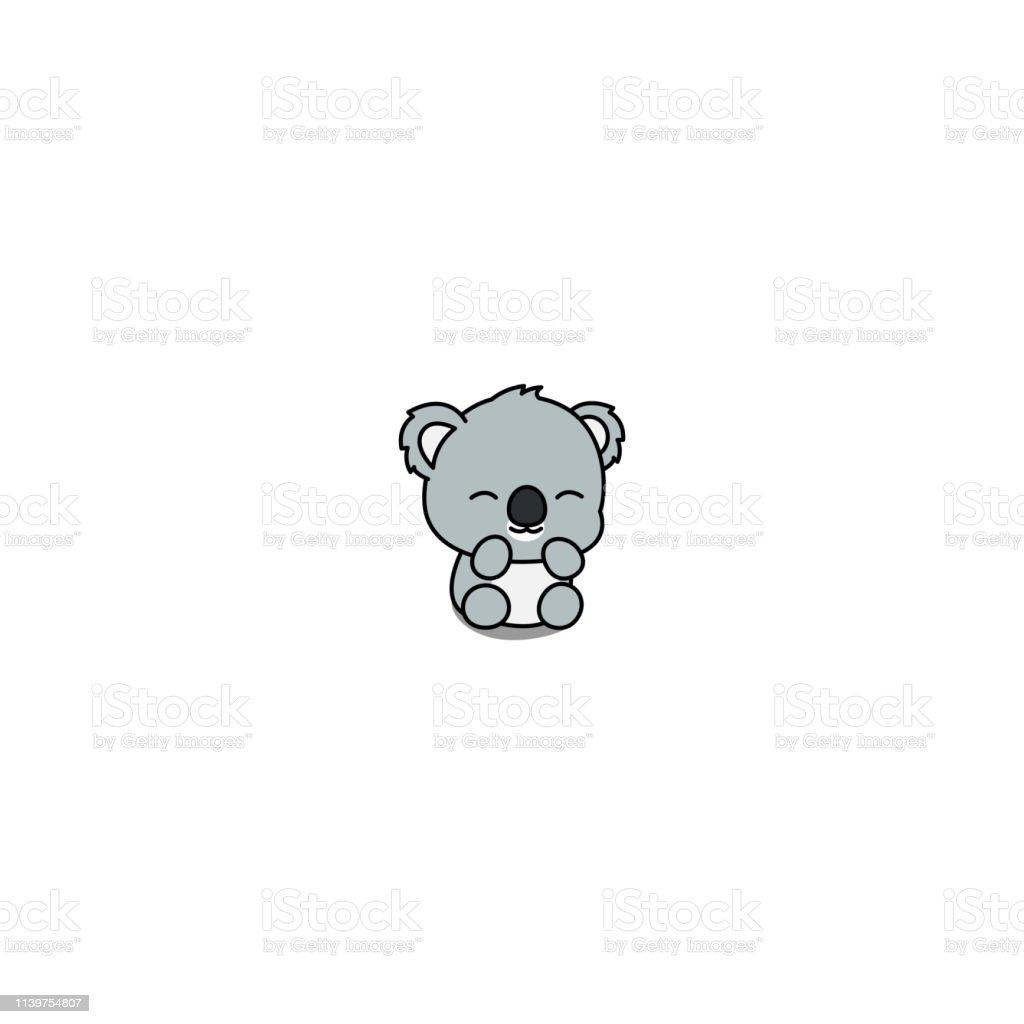 Cute Baby Koala Cartoon Icon Vector Illustration Stock ...