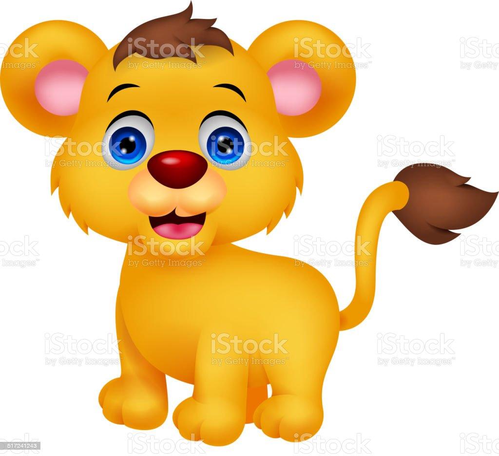 Lion Dessin Animé Mignon Bébé Vecteurs Libres De Droits Et Plus D