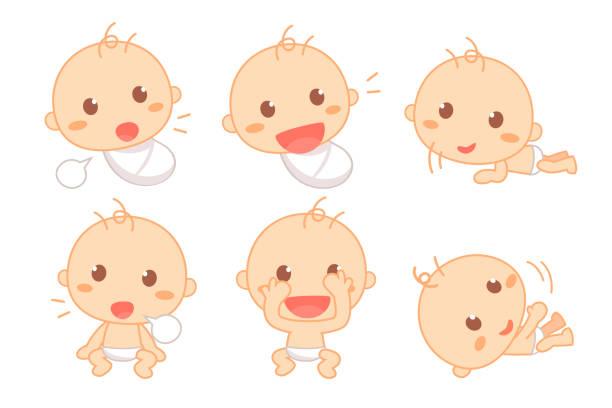 Bébé De 0 à 6 Mois Vectoriels Et Illustrations Libres De