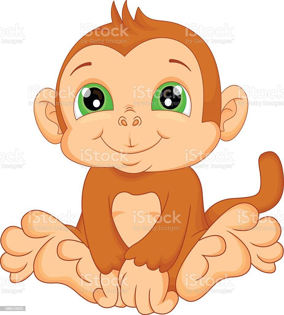 Vetores De Bonito Bebe Macaco Dos Desenhos E Mais Imagens De 2015