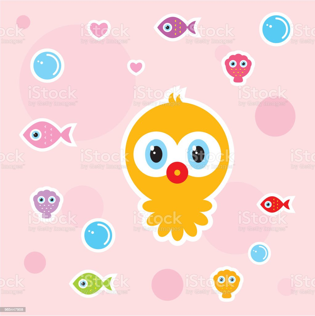 cute baby octopus nursery wallpaper cute baby octopus nursery wallpaper - stockowe grafiki wektorowe i więcej obrazów baby shower royalty-free