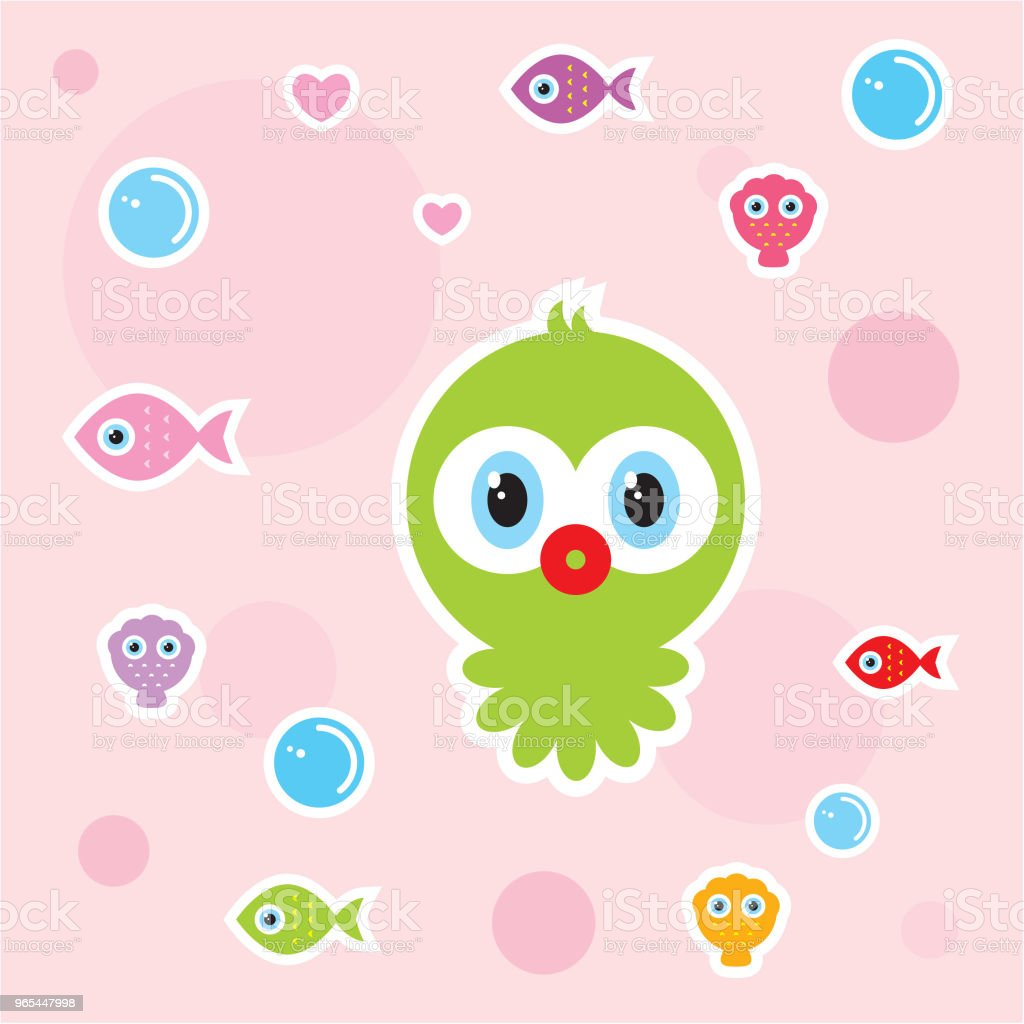 cute baby octopus nursery wallpaper royalty-free cute baby octopus nursery wallpaper stock vector art & more images of anniversary