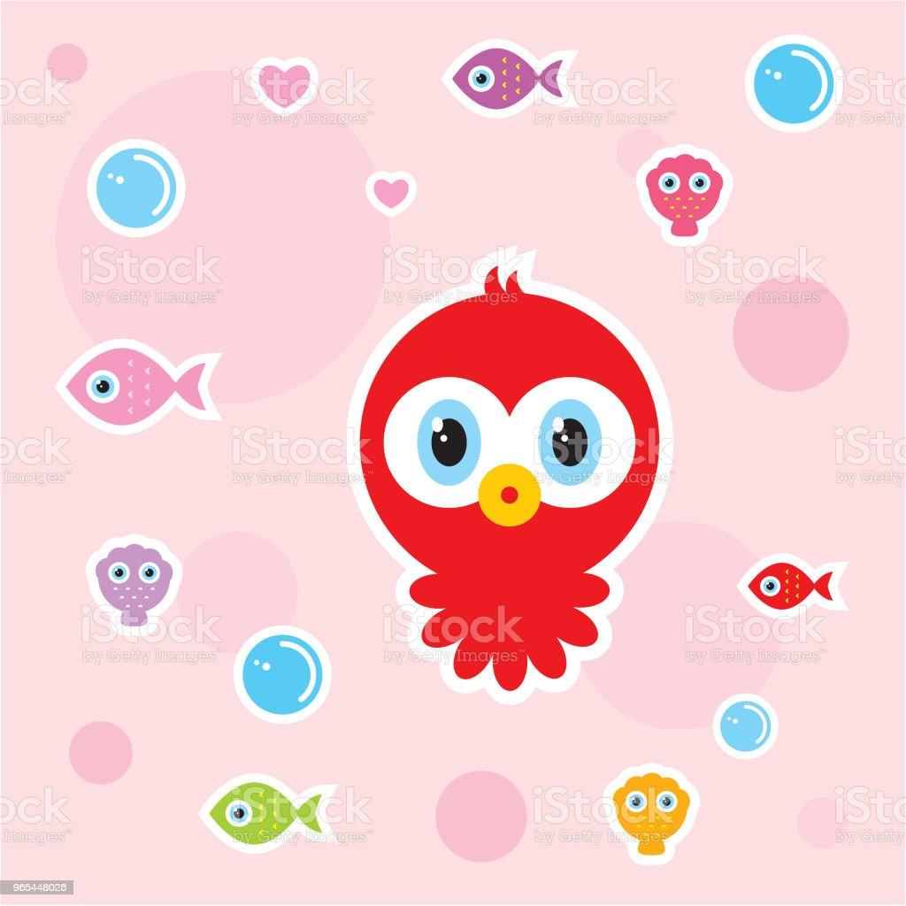 cute baby octopus nursery wallpaper cute baby octopus nursery wallpaper - stockowe grafiki wektorowe i więcej obrazów baby shower royalty-free