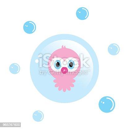 Cute Baby Octopus Sweet Holiday Vector - Stockowe grafiki wektorowe i więcej obrazów Baby Shower 965267600