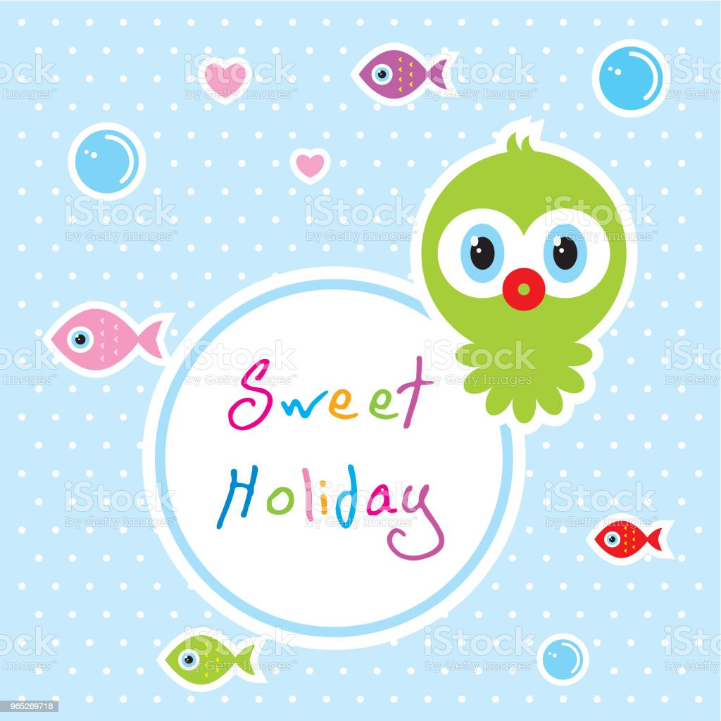 cute baby octopus sweet holiday vector - Grafika wektorowa royalty-free (Baby Shower)