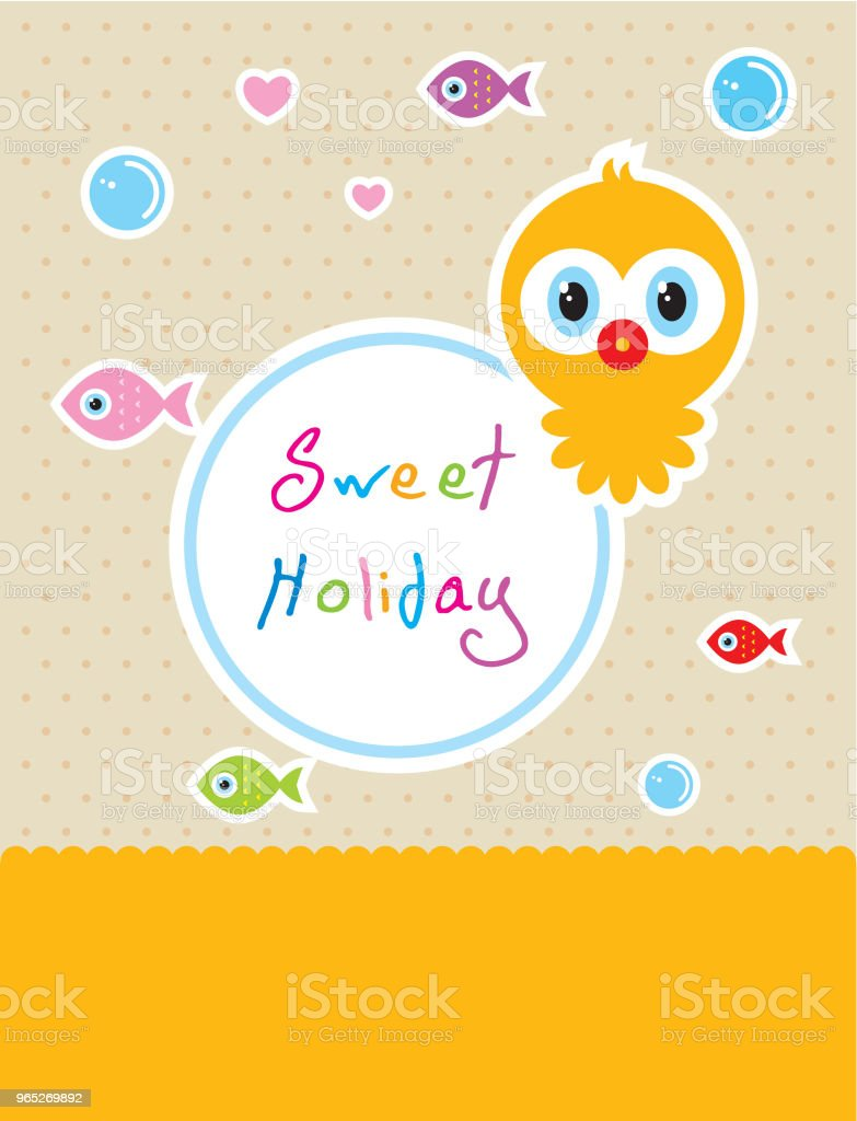 cute baby octopus sweet holiday vector royalty-free cute baby octopus sweet holiday vector stock illustration - download image now