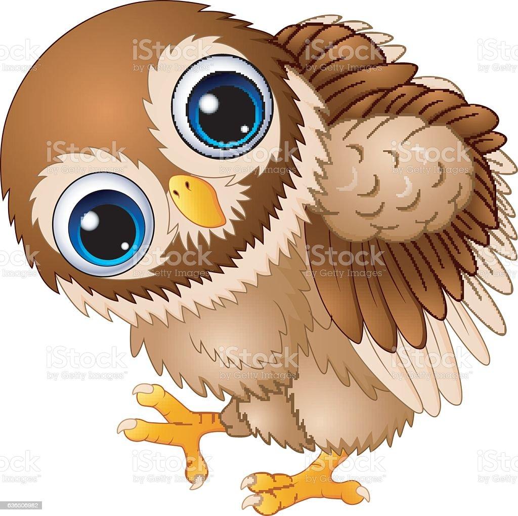 cute baby owl cartoon walking stock vector art more images of rh istockphoto com