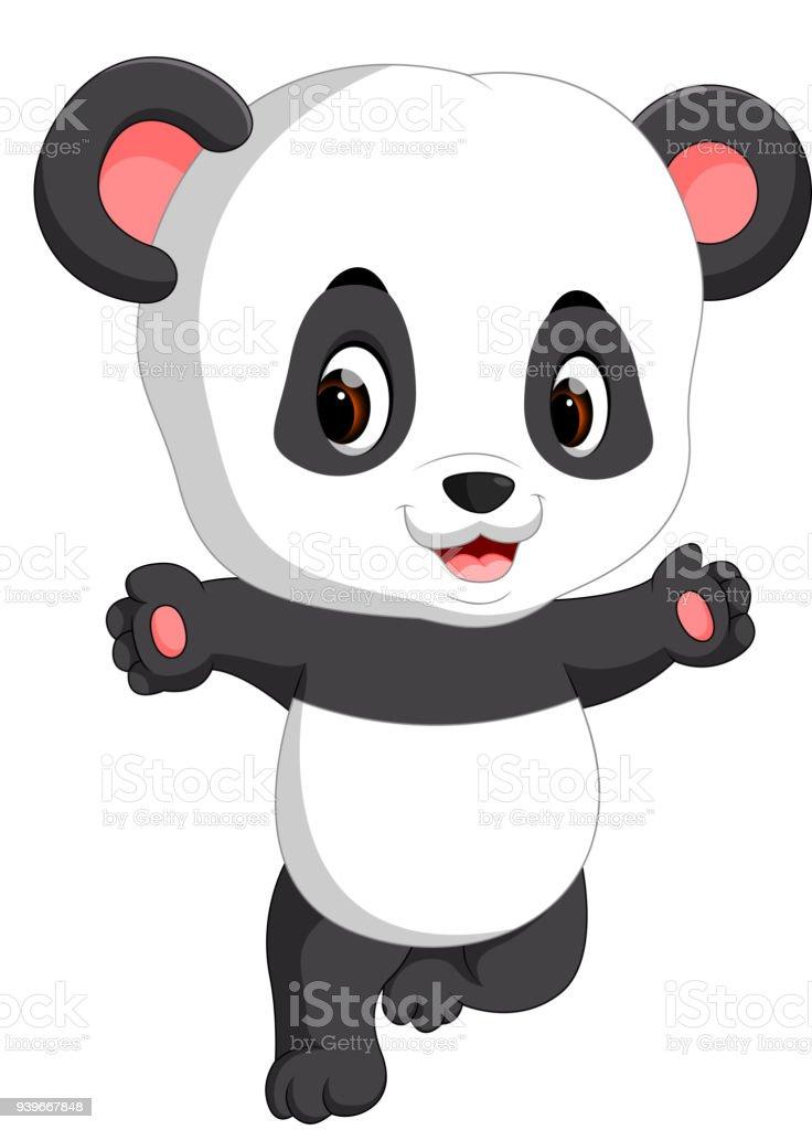Dessin Anime Mignon Bebe Panda Cliparts Vectoriels Et Plus D