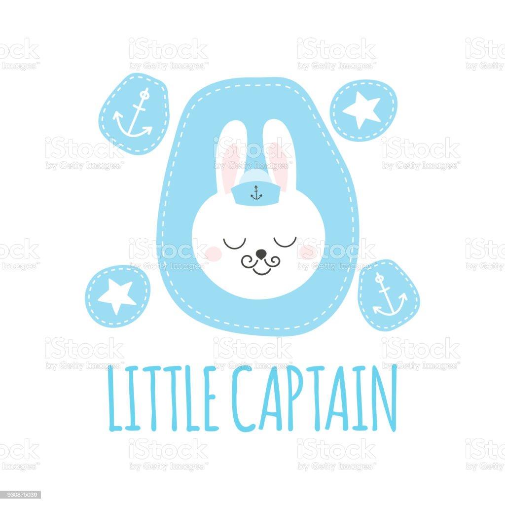 Niedliche Baby Muster Mit Kleinen Hasen Cartoon Tier Junge Print
