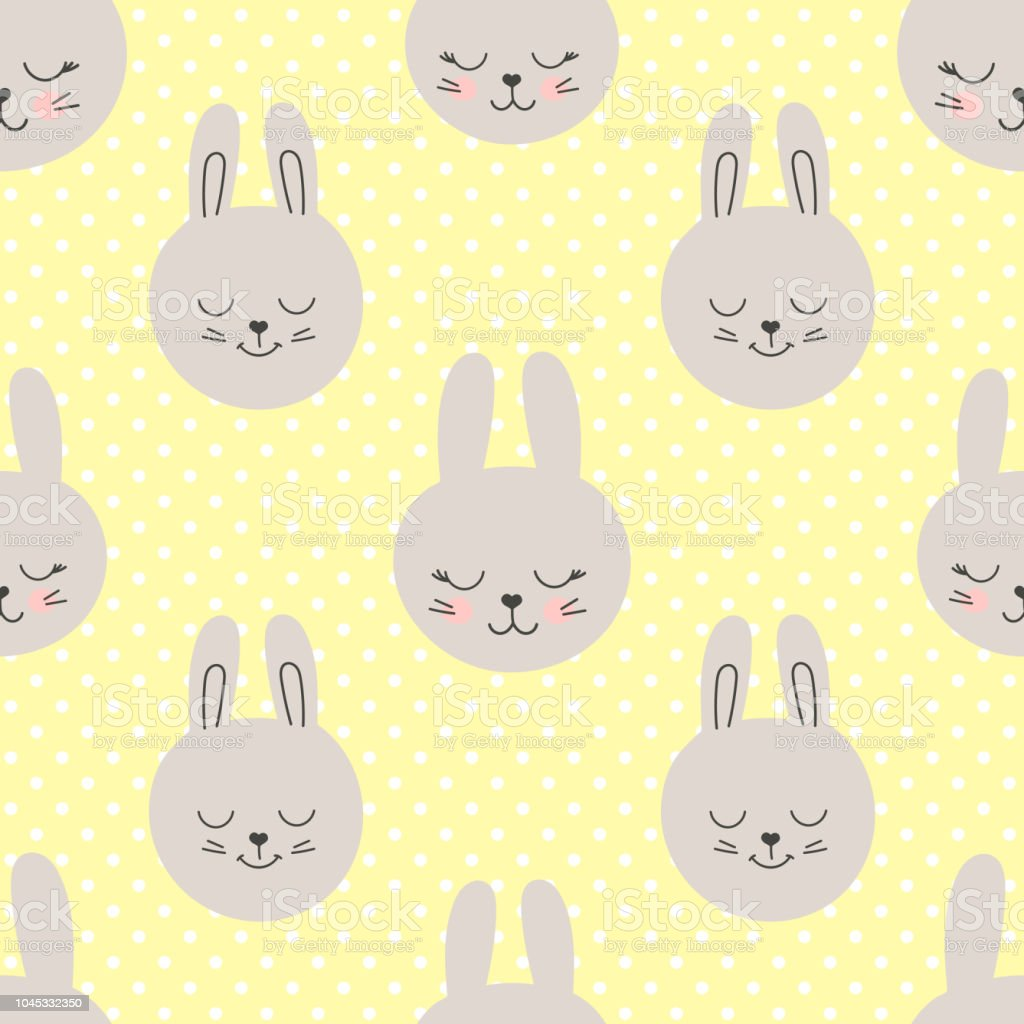 30c85c024d01 Cute Baby Pattern With Little Bunny Cartoon Animal Girl And Boy ...