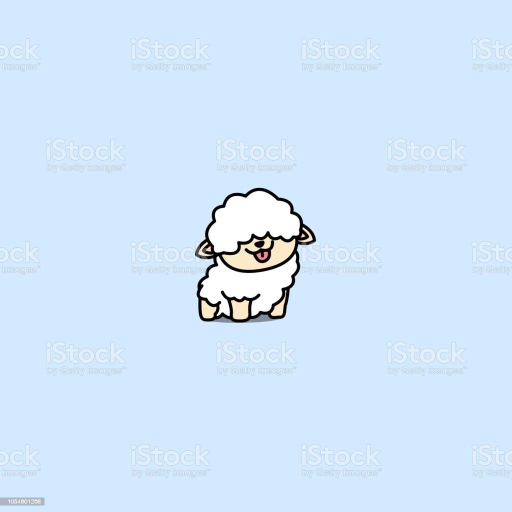 かわいい赤ちゃん羊漫画アイコンベクトル イラスト アイコンのベクター