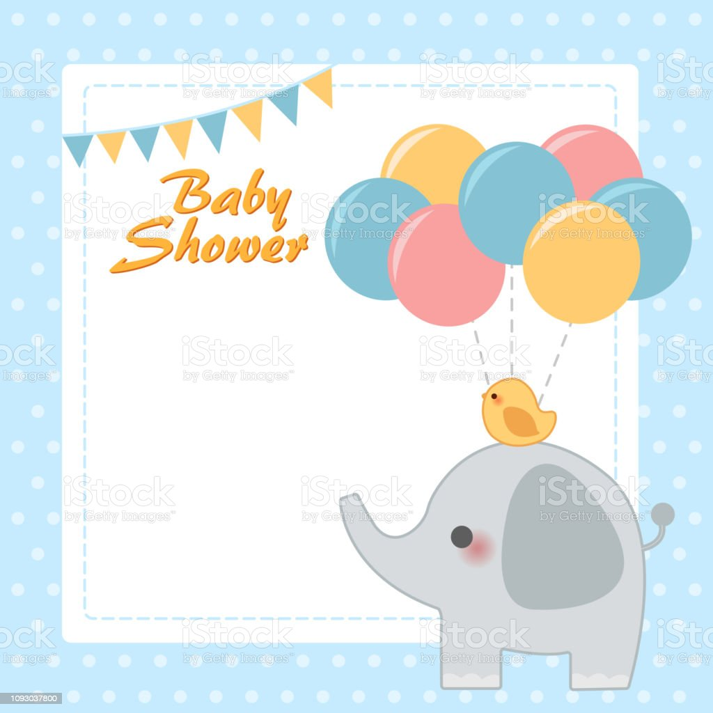 Cute Baby Shower Invitation Card Stock Illustration Download Image Now