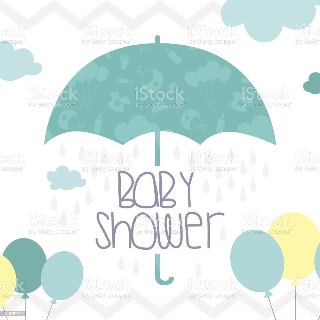 Cute Baby Shower Invitation Card Stockowe Grafiki