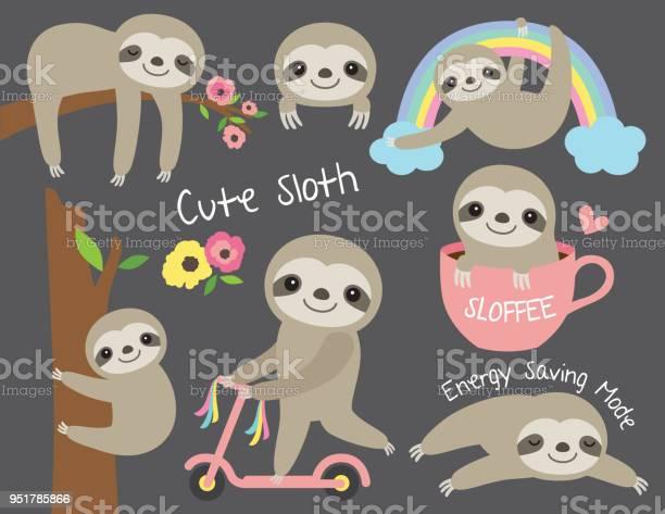 Cute baby sloth vector illustration set vector id951785866?b=1&k=6&m=951785866&s=612x612&h=sj8r8rhtqsoss6mkk 0l8dxelq3m710h8 etd6bhgfe=