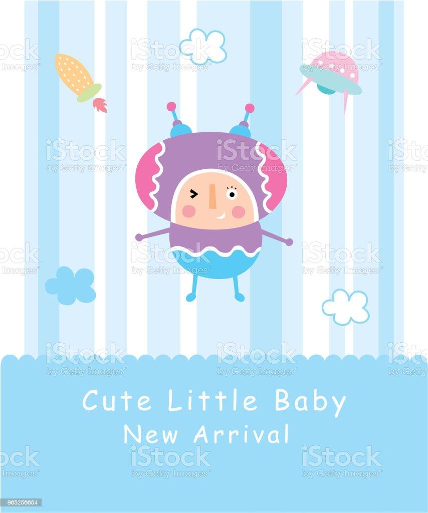 cute baby space boy greeting card cute baby space boy greeting card - stockowe grafiki wektorowe i więcej obrazów astronauta royalty-free