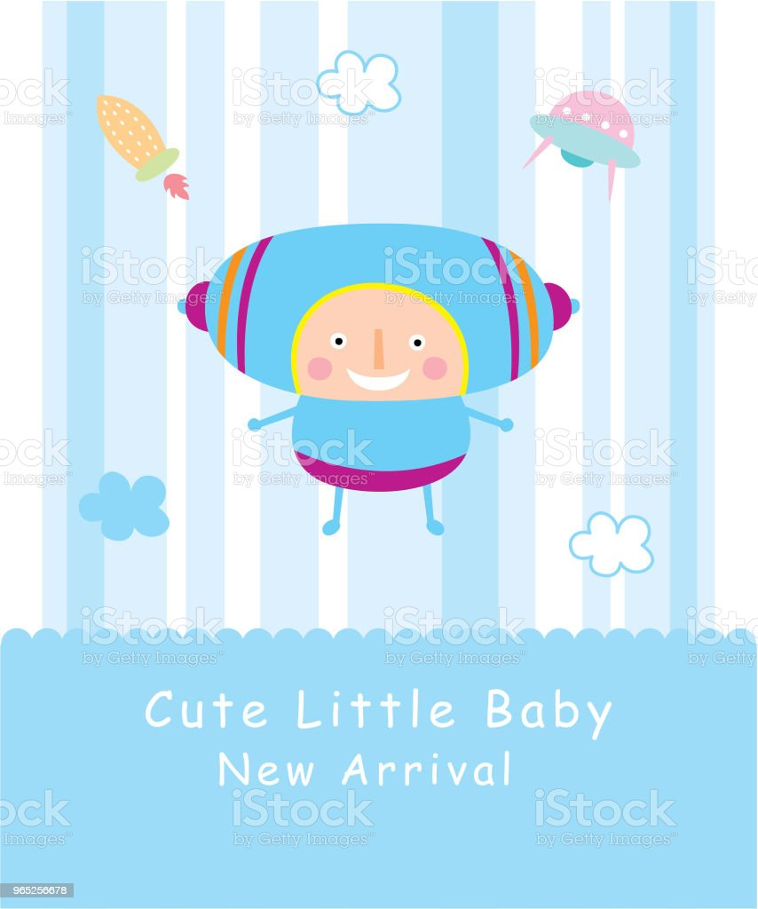 cute baby space boy greeting card royalty-free cute baby space boy greeting card stock vector art & more images of anniversary