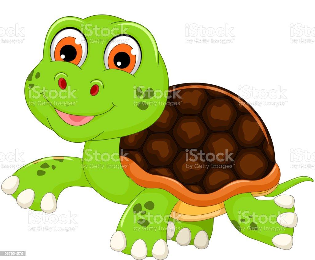 cute baby turtle cartoon walking のイラスト素材 637964576 istock