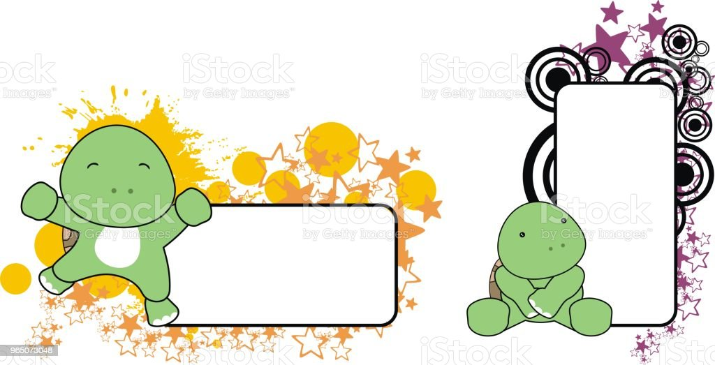 cute baby turtle copy space set royalty-free cute baby turtle copy space set stock vector art & more images of animal
