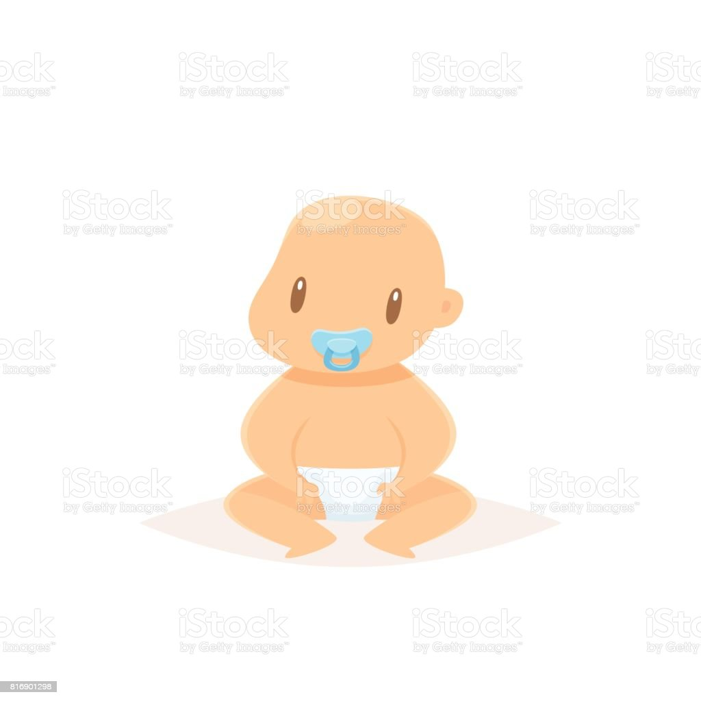 Cute baby vector illustration vector art illustration