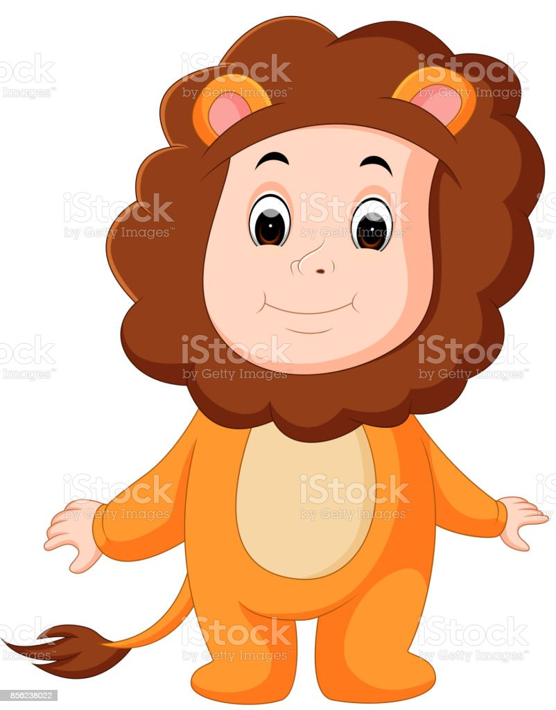 Royalty Free Illustration Of Baby In A Lion Fancy Dress ...